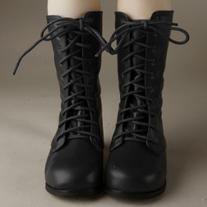 [132mm] Trinity & Lusion Doll Shoes - Basic SL Boots (Black)