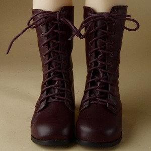 [132mm] Trinity & Lusion Doll Shoes - Basic SL Boots (D.Brown)