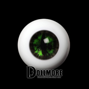 [14mm] OMeta Half Round Acrylic Eyes (Green CE-02)