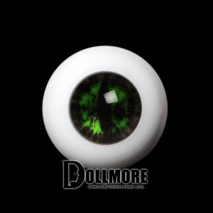 [16mm] OMeta Half Round Acrylic Eyes (Green CE-02)