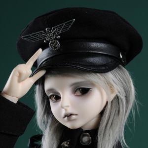 (7-8) Officer Hat (Type- Black C)