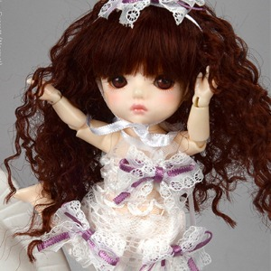 [Bebe Doll.휴쥬베이비] Bebe Doll Size - VB Dress (White)