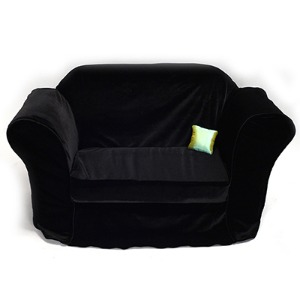 Model doll size - Fabric Velvet Sofa (Black)