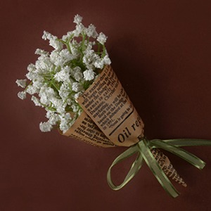 Middle Gypsophila Flower Bouquet (White)