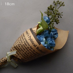 Middle Rose Flower Bouquet (Blue)