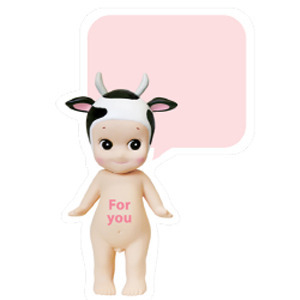 Sonny Angel Speech bubble card-Milkcow