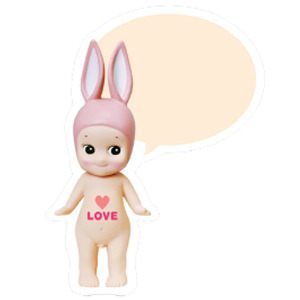 Sonny Angel Speech bubble card-Rabbit