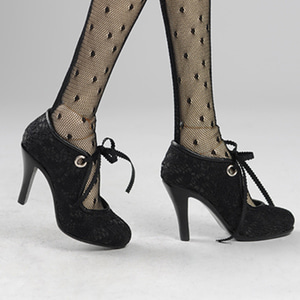[75mm] Model Doll F(high heels) Shoes - Diora Shoes (Black)