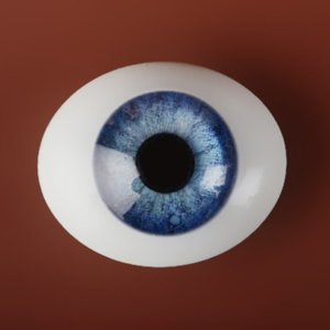 [22mm] Classic Flat Back Oval Glass Eyes (CC-01)
