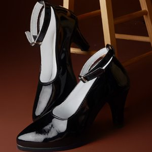 [140mm] Trinity Doll - RM High Heel Shoes (Enamel Black)
