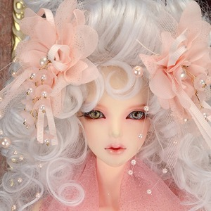 Flower Pearl Head Deco Pin (Pink)