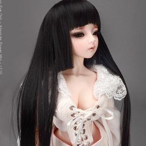 "[8-9""] Hime Long Wig (Black)"