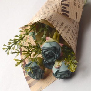 Middle Ash Rose Flower Bouquet (D Blue) 꽃다발