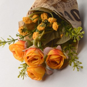Middle Ash Rose Flower Bouquet (D Yellow) 꽃다발