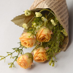 Middle Ash Rose Flower Bouquet (Yellow) 꽃다발
